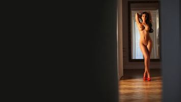 Фото бесплатно девушка, стоит, обнаженная