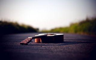 Заставки дорога, асфальт, гитара