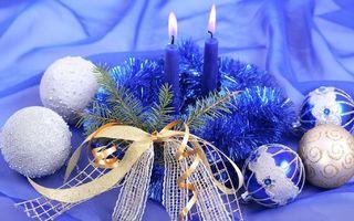 Бесплатные фото игрушки,свечи,новый год,праздник