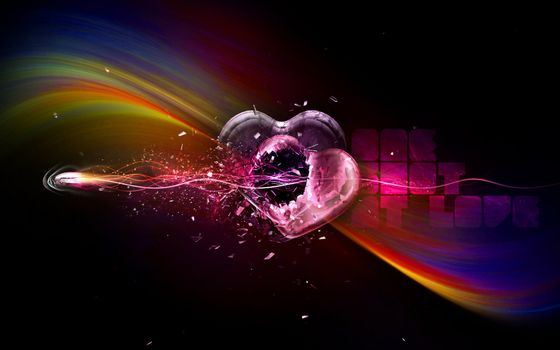 Photo free splinters, rainbow, heart