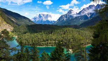 Фото бесплатно горы, высота, небо