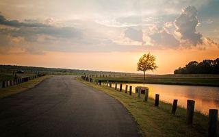 Фото бесплатно небо, забор, дорога