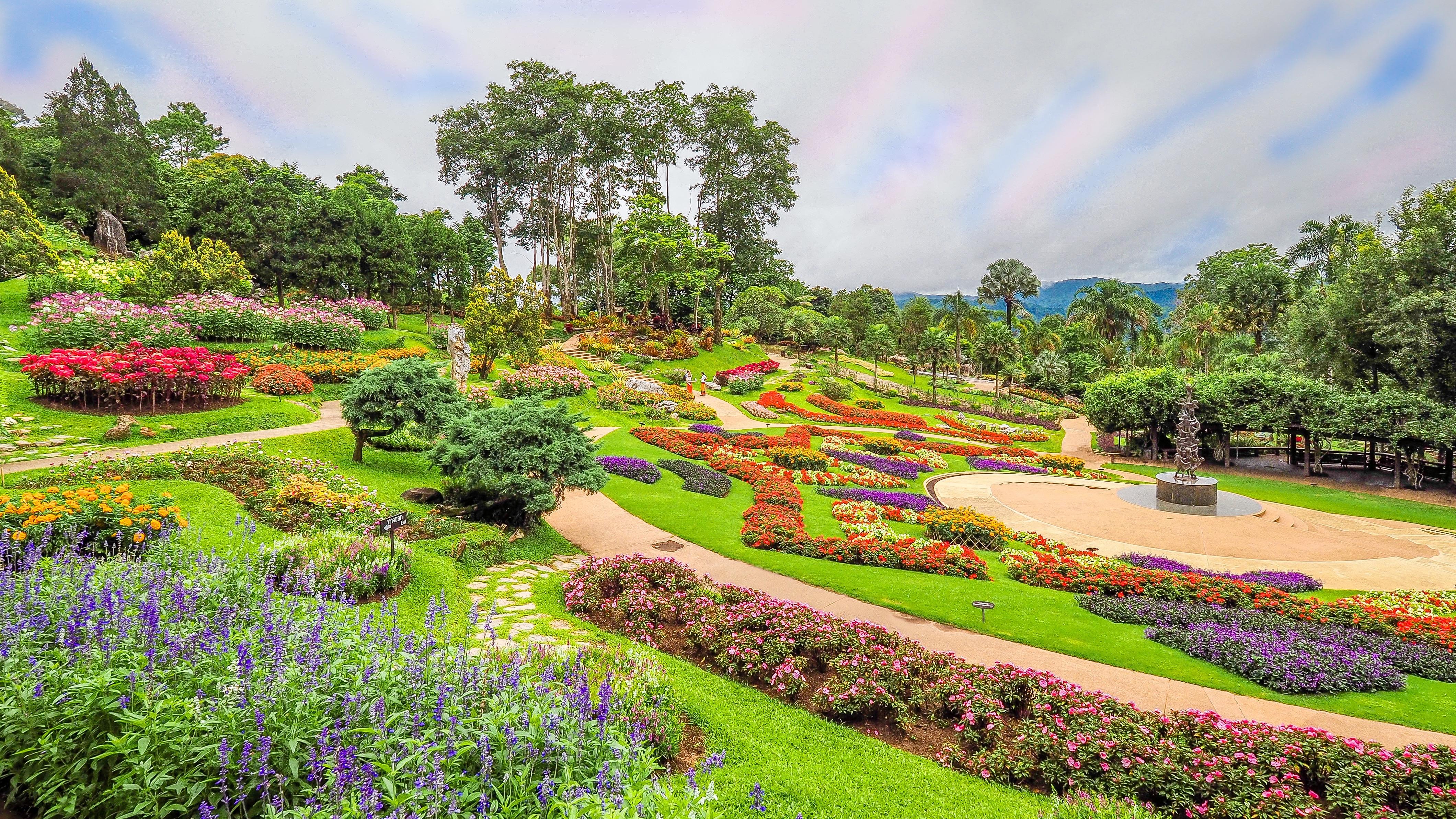 обои парк, сад, клумбы, цветы картинки фото