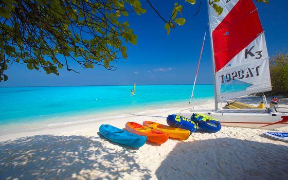 Photo free landscapes, blue sea, beach