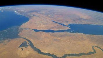 Заставки река, нил, вид из космоса