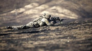 Photo free soldier, lies, rifle