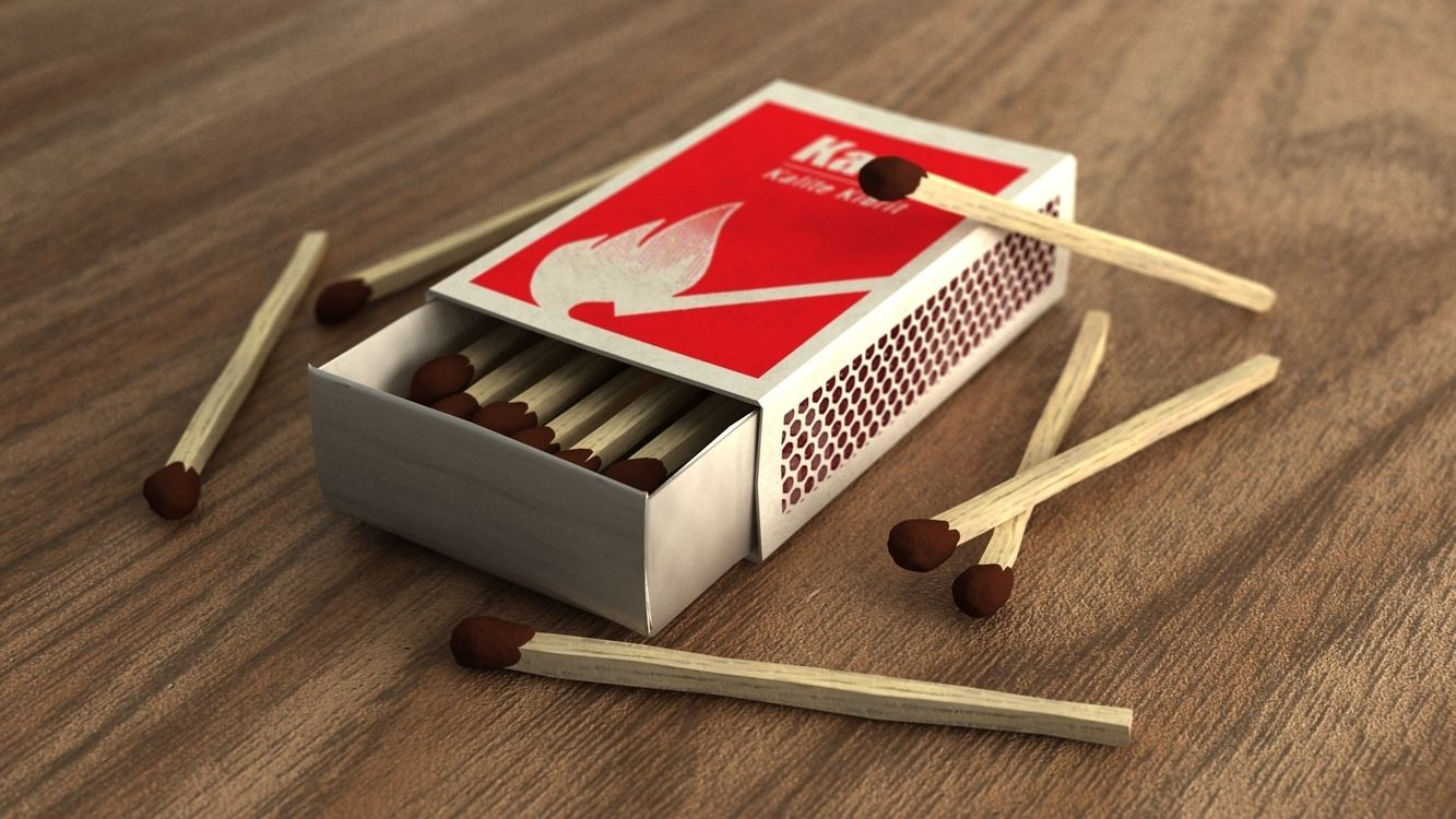Фото бесплатно спички, коробок, сера - на рабочий стол