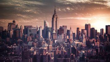Бесплатные фото сша,америка,нью-йорк,здания,дома,небоскребы,улицы