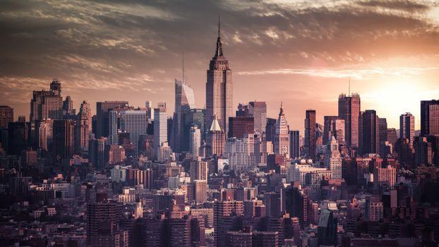 Бесплатные фото сша,америка,нью-йорк,здания,дома,небоскребы,улицы,офисы,небо,облака,город