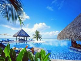 Бесплатные фото тропики,мальдивы,море,курорт,бассейн,разное