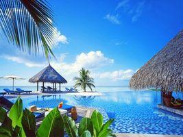 Фото бесплатно курорт, море, бассейн