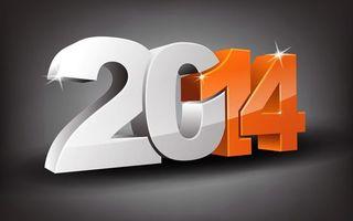 Обои цифры, 2014, блики, номер, год, число, дата, новый год