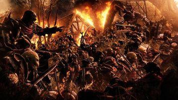 Бесплатные фото война,бойня,толпа,воины,сражение,огонь,боль