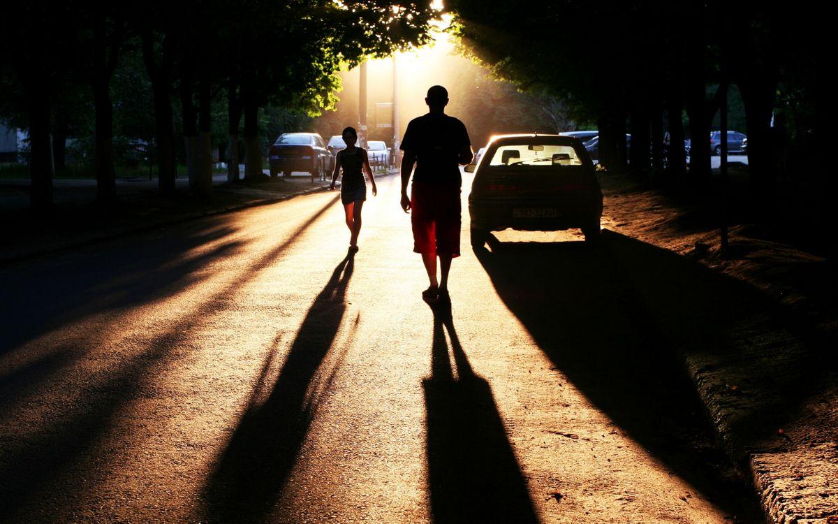 Фото бесплатно закат, солнца, дорога - на рабочий стол