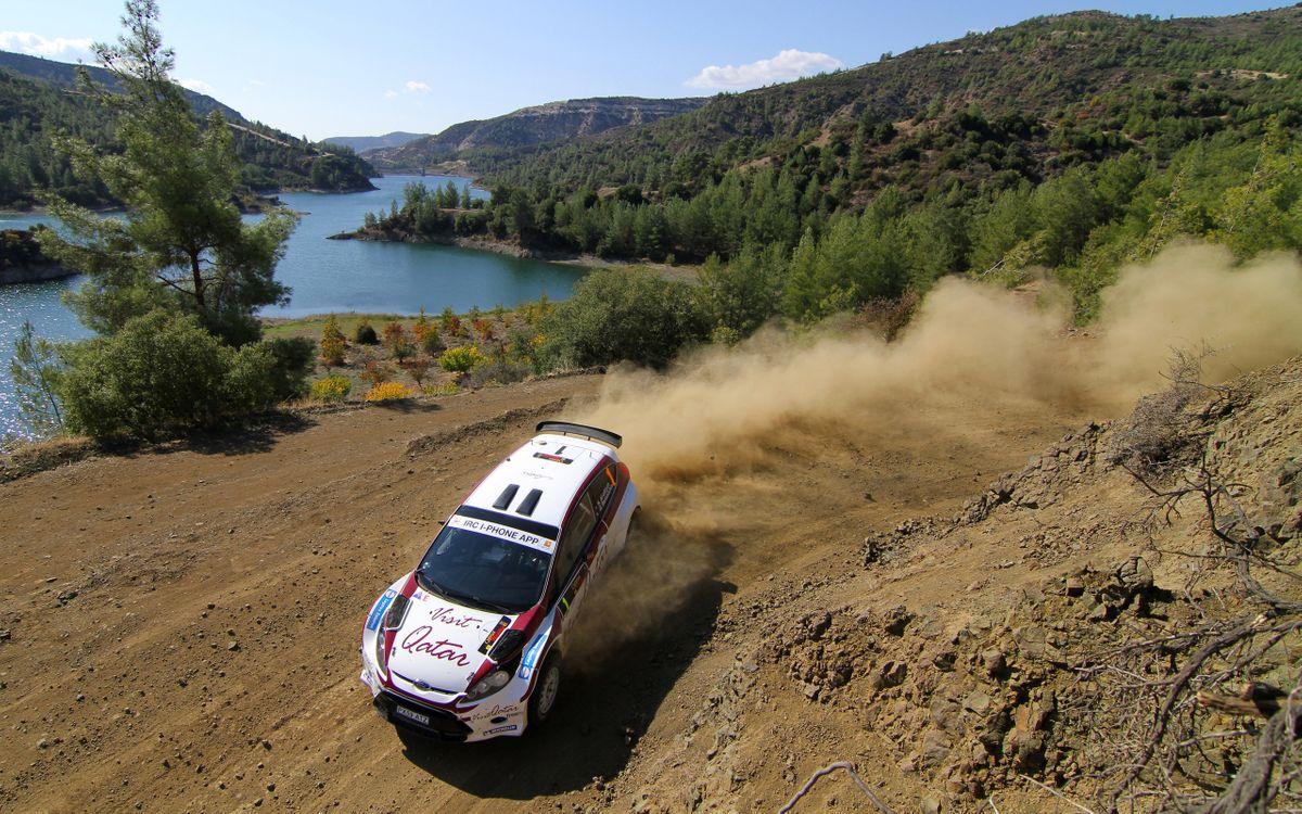 Фото бесплатно intercontinental rally challenge, поворот, ciprus 2011, пыль, al attiyah, ford, разное