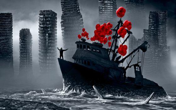 Фото бесплатно романтика апокалипсиса, корабль, romantically apocalyptic