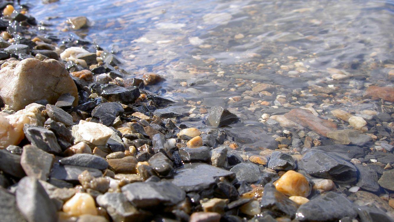 Фото бесплатно каменный берег, река, дно - на рабочий стол