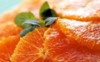 Бесплатные фото апельсин,дольки,оранжевые,сочные,зелень,вкусно,еда