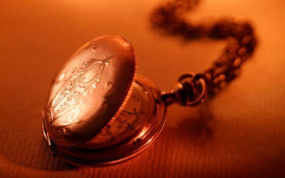 Заставки часы, круглые, цепочка