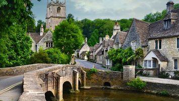 Фото бесплатно дома, старинные, мост