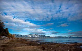 Фото бесплатно берег, океан, горы, камни, песок, холмы, пейзажи