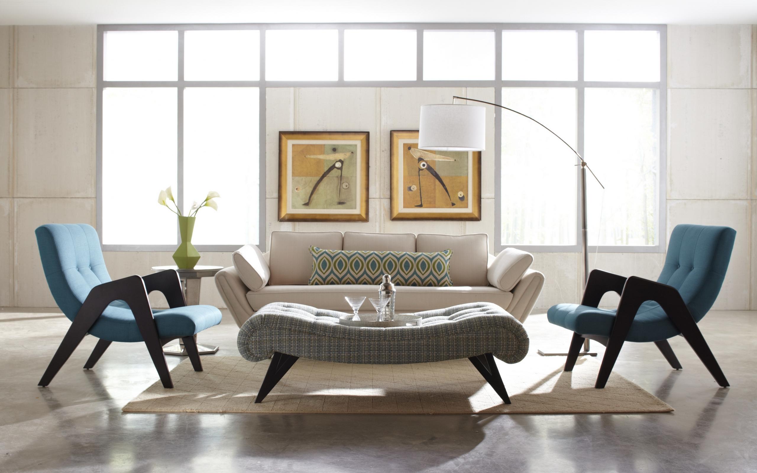 гостиная, диван, кресла