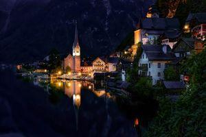 Заставки Hallstatt, Austria, Lake Hallstatt, Alps, Гальштат, Австрия, Гальштатское озеро