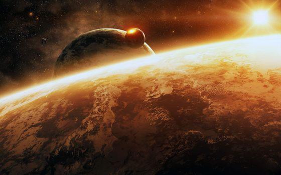 Фото бесплатно космос, планеты, звёзды
