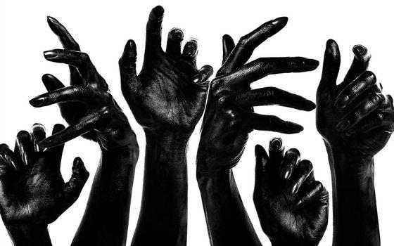 Фото бесплатно ладони, черный, пальцы