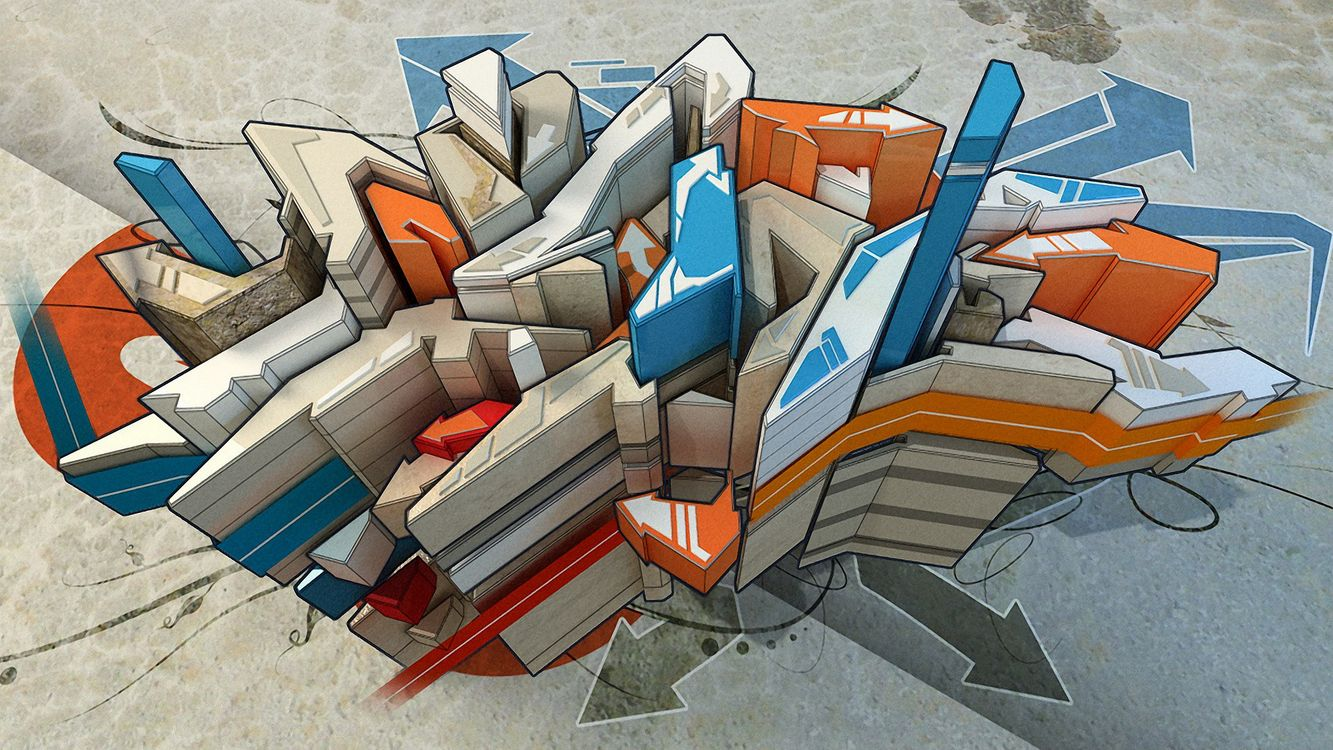 Фото бесплатно линии, стрелки, рисунок - на рабочий стол
