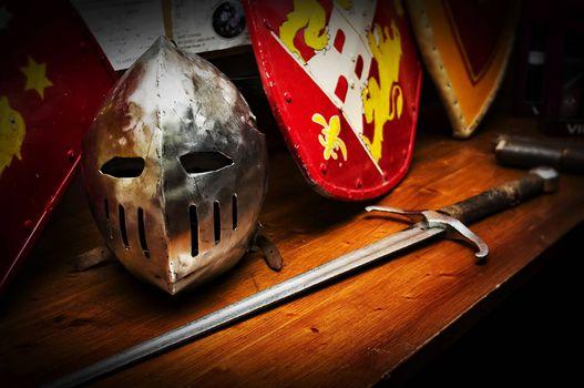 Photo free sword, helmet, shield
