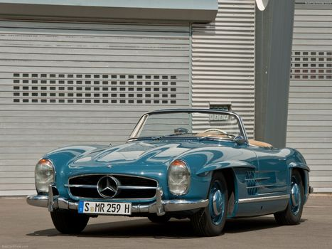 Photo free Mercedes, blue, roadster