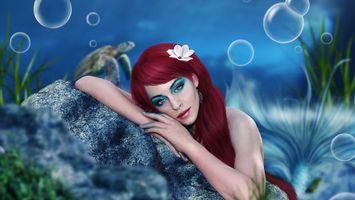 Фото бесплатно модель, волосы, пузыри