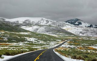 Фото бесплатно осень, дорога, холмы