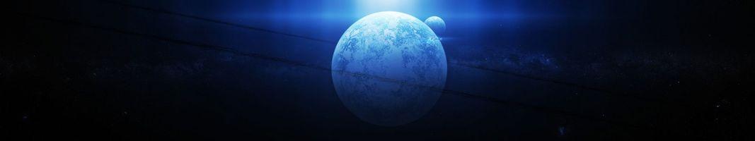 Фото бесплатно планета, спутник, кольца, пояс, метеоритов, осколки, гравитация, космос