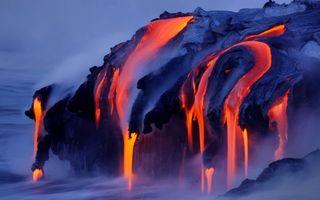 Фото бесплатно природа, лава, текёть