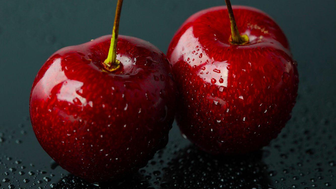 Фото бесплатно вишни, черешня, ягоды - на рабочий стол