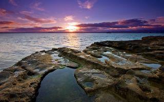 Бесплатные фото закат,облака,тучи,солнце,горизонт,море,океан