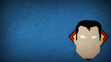 Обои minimalism, hero, superman, герой, 1920x1080, рисунок, picture, минимализм
