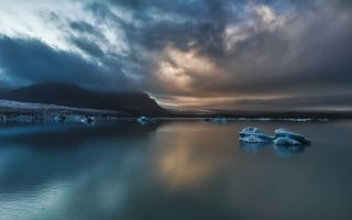 Заставки айсберг, вода, море