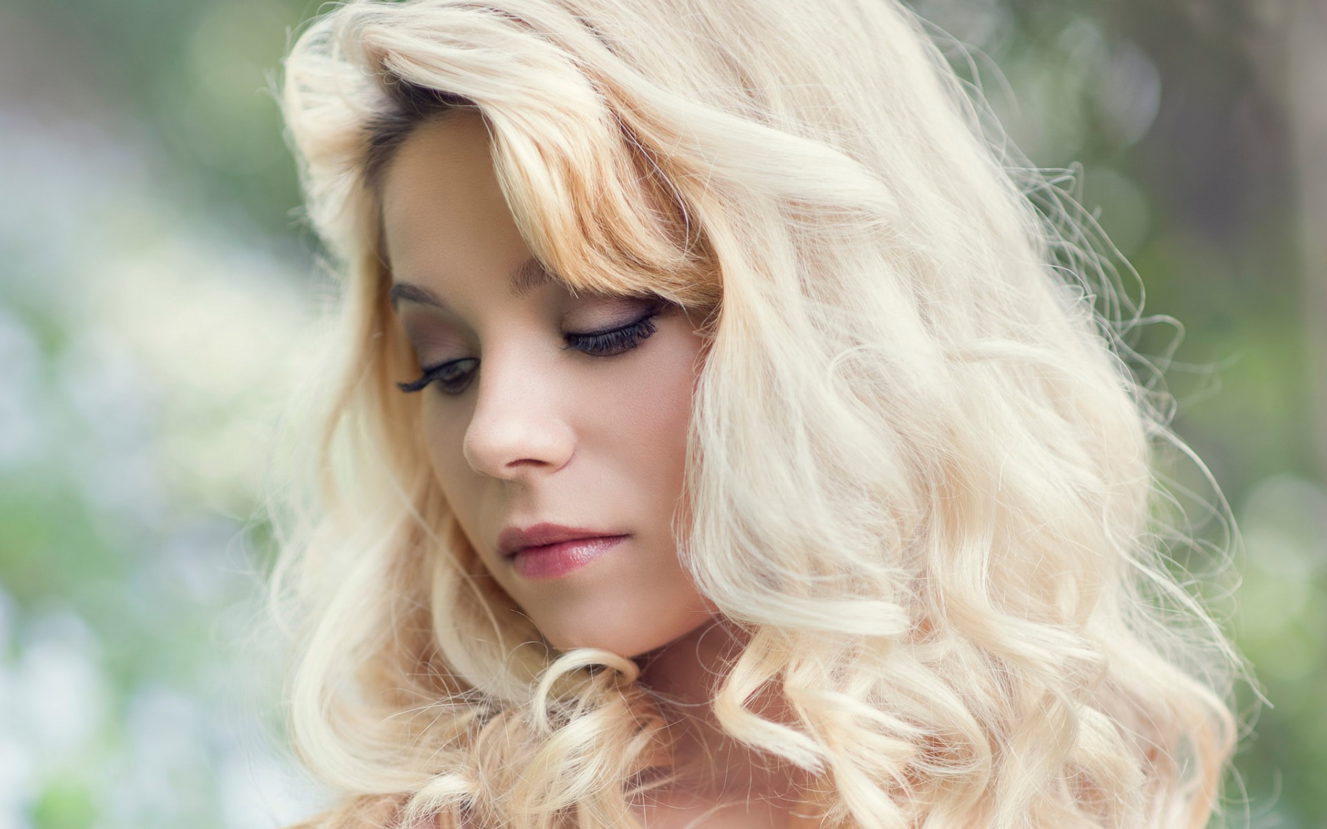 блондинка, красотка, волосы