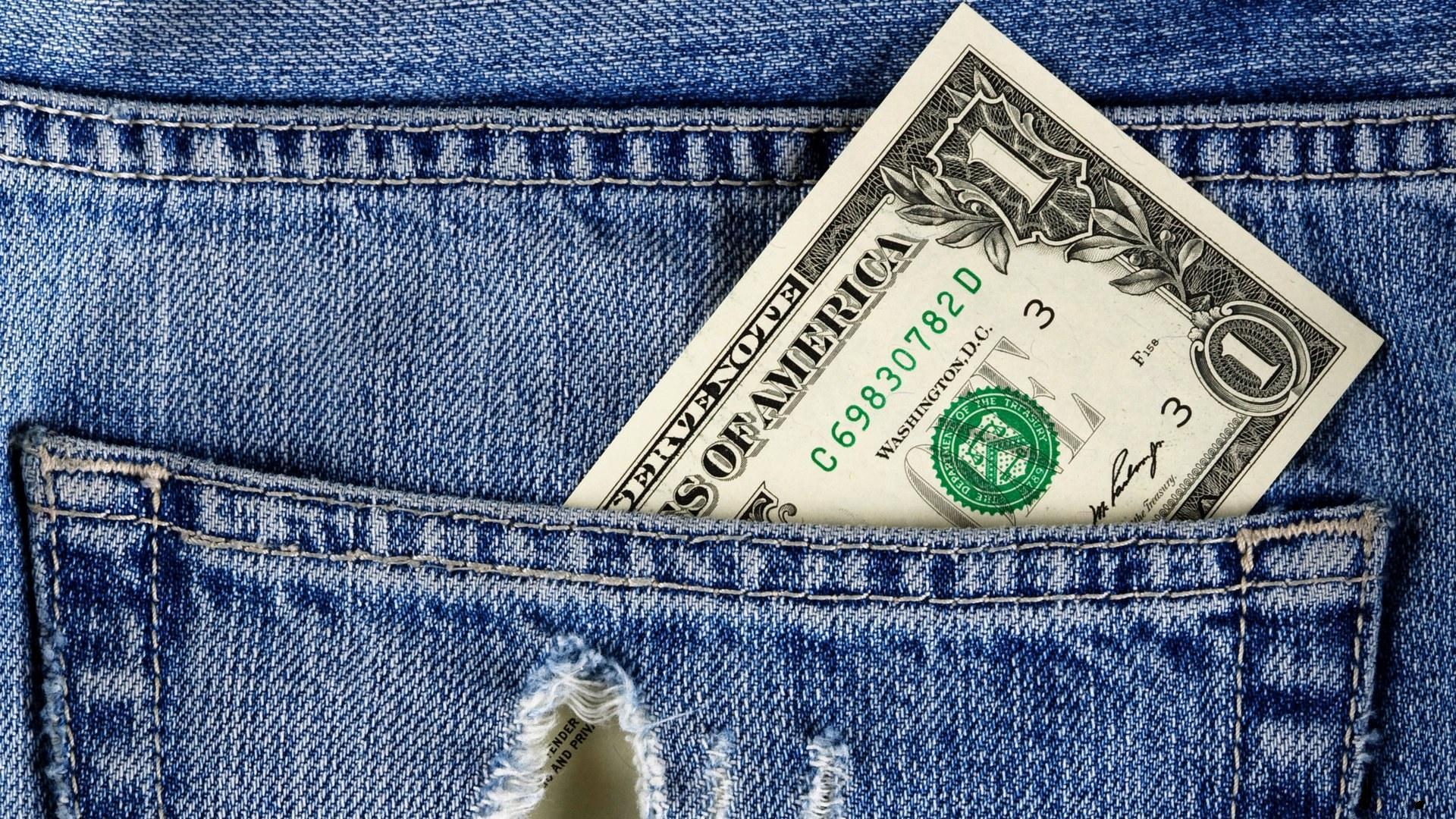 доллар, брюки, джинсы
