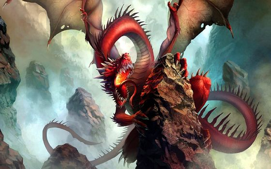 Фото бесплатно дракон, змея, чудище