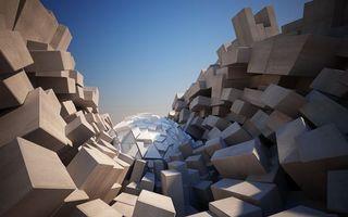 Photo free figures, cube, sphere