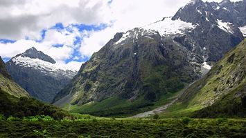 Фото бесплатно снег, трава, луг