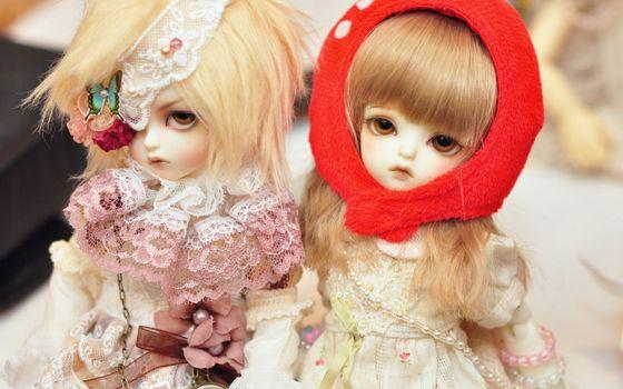 Фото бесплатно куклы, девочки, костюмы