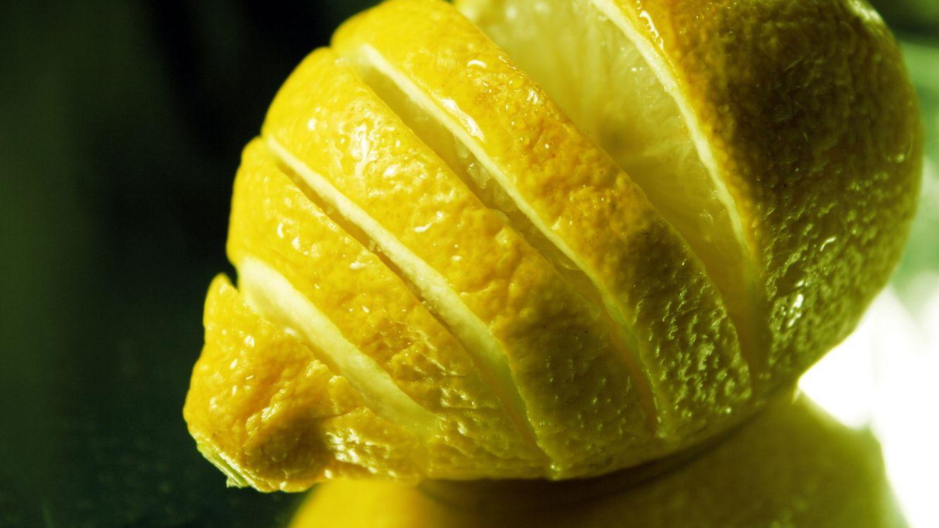 Фото бесплатно лимон, разрезанный, дольки, стол, еда, разное, разное