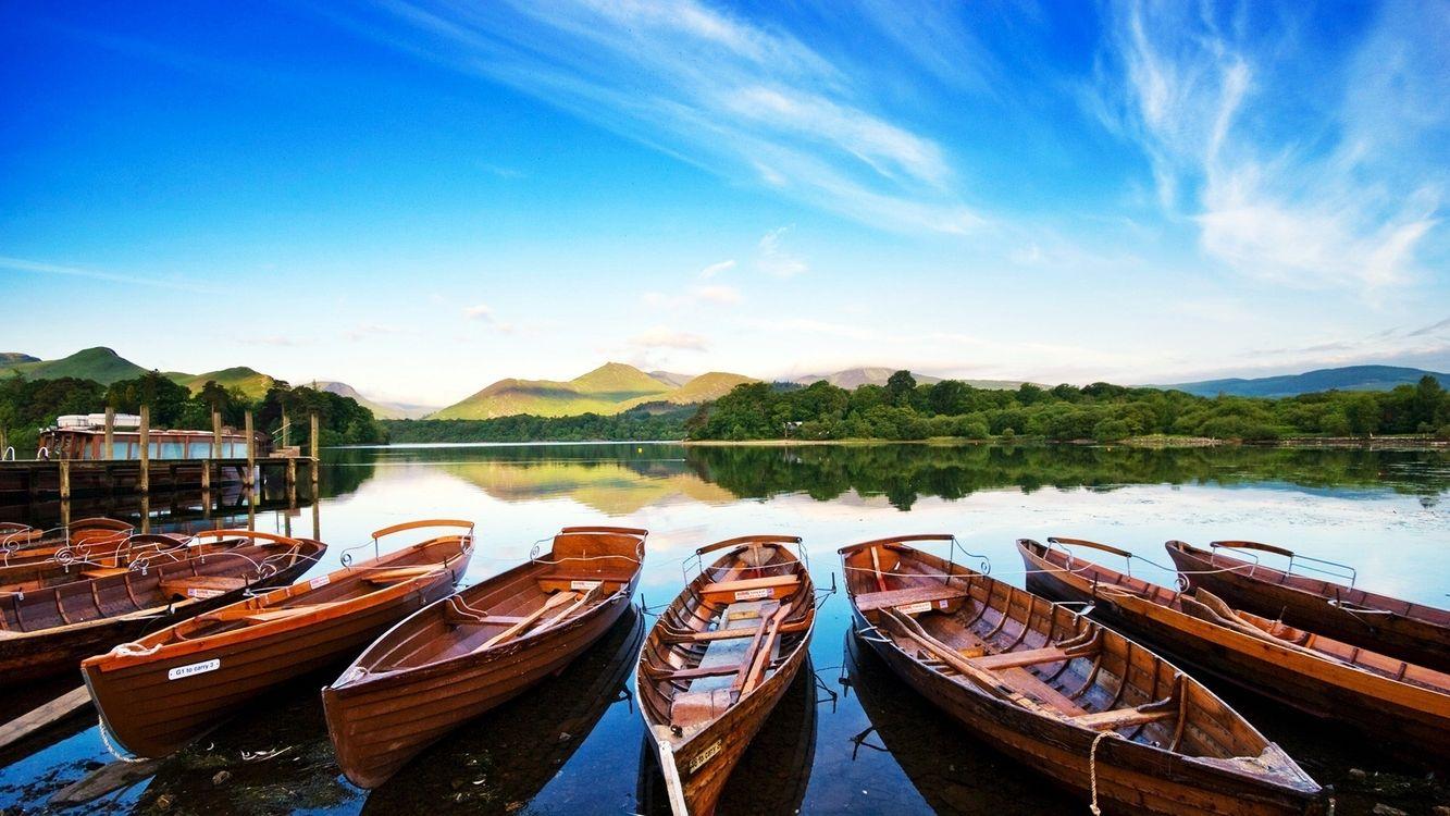 Фото бесплатно лодки, причал, небо - на рабочий стол