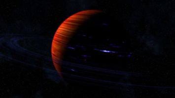 Заставки планета, яркая, темно, звезды, галактика, свет, космос