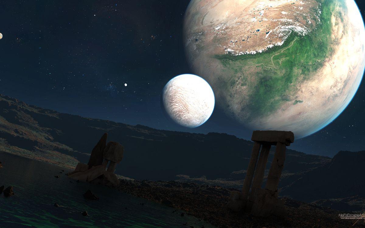 Фото бесплатно планета, фантастика, будущее - на рабочий стол